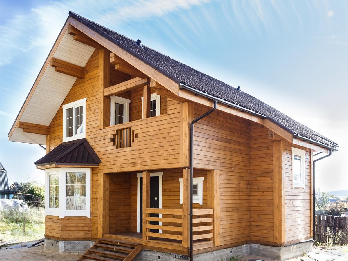 внешний вид домов из бруса фото для вас